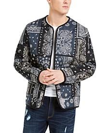 SUN + STONE Men's Bandana Print Jacket, Created For Macy's