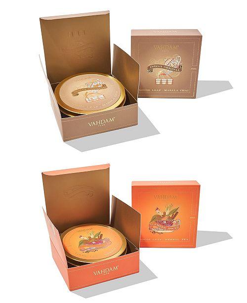Vahdam Teas Turmeric Spiced Herbal Tea India's Original Masala Chai, Combo, Gift Set