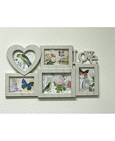 5 Photo with Love Heart Frames