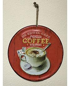 Round Metal Painted Art with Premium Coffee Roasters