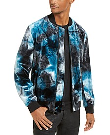 INC Men's Velvet Tie Dye Bomber Jacket, Created for Macy's