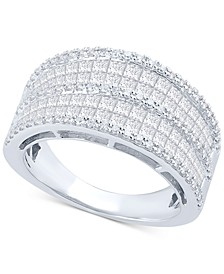 Diamond Statement Ring (2 ct. t.w.) in 14k White Gold