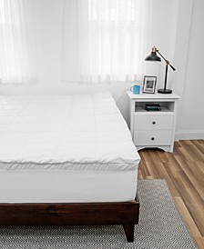 Sensor Gel SlumberMax Hybrid 4-Inch Memory Foam and Lux Fiber Mattress Topper - King
