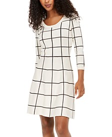 Juniors' Grid-Pattern Dress