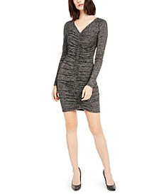 Ruched Leopard-Print Dress
