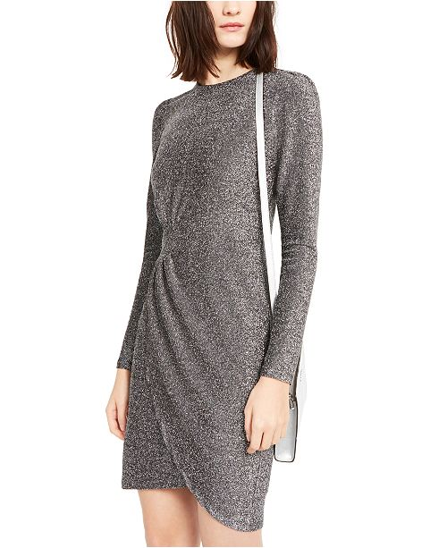 Michael Kors Lurex Wrap Skirt Dress, Regular & Petite Sizes