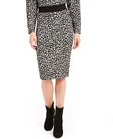 Michael Michael Kors Animal-Print Knit Skirt, Regular & Petite Sizes