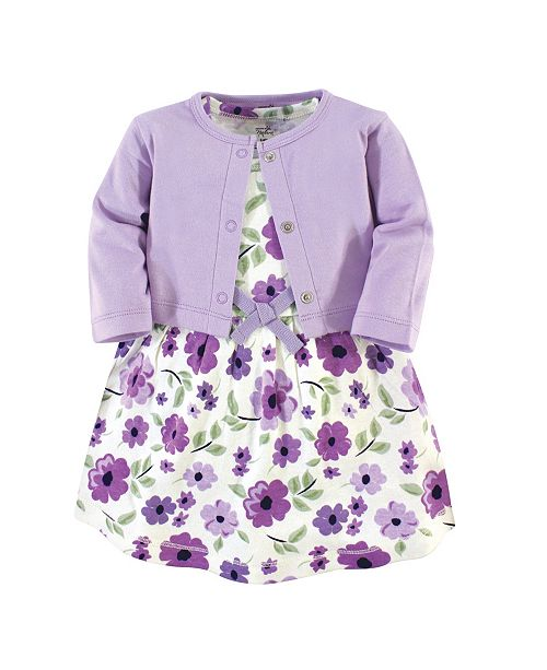 Touched by Nature Baby Girl Organic Dress and Cardigan Set