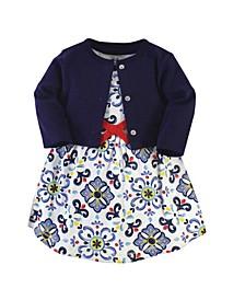 Baby Girl Organic Dress and Cardigan Set