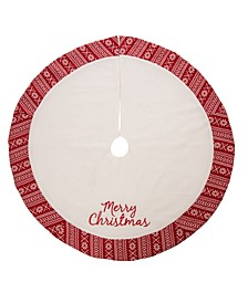 Fleece Christmas Tree Skirt - Merry Christmas