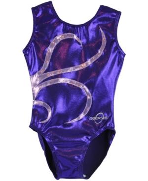Obersee Kids' Big Girls Gymnastics Leotard In Purple