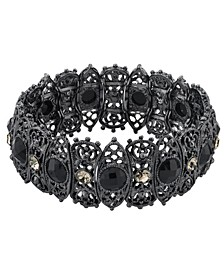 Black-Tone Stretch Bracelet