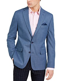 Men's Slim-Fit Blue Knit Sport Coat, Created for Macy's