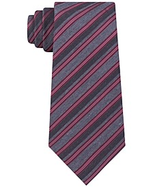 Men's Stone Slim Stripe Tie