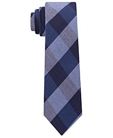 Men's Slim Textured Check Tie