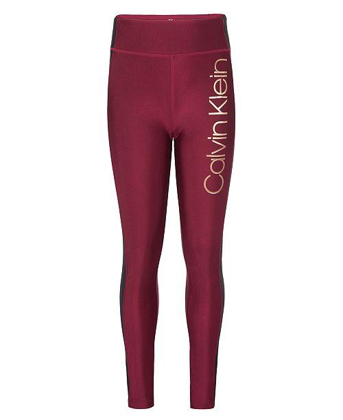 Calvin Klein Big Girls Performance Shimmer Leggings