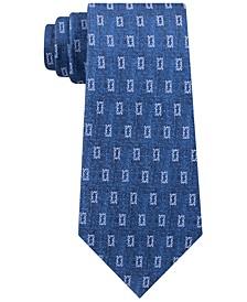Men's Micro-Logo Block Neat Silk Twill Tie