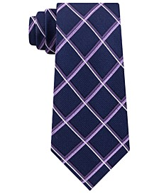 Men's Classic Multi-Grid Silk Tie