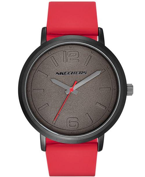 Skechers Men's Silicone Strap Watch 46mm