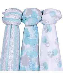 Muslin Bamboo Swaddles 3 Pack