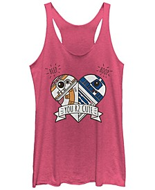 Star Wars Valentines You R2 Cute Heart Droids Tri-Blend Racer Back Tank