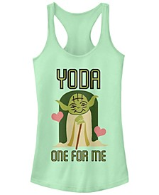 Star Wars Yoda One For Me Cute Valentine's Ideal Racer Back Tank