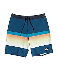 "Men's Highline Slab Four-Way Stretch Colorblocked Stripe 20"" Board Shorts"