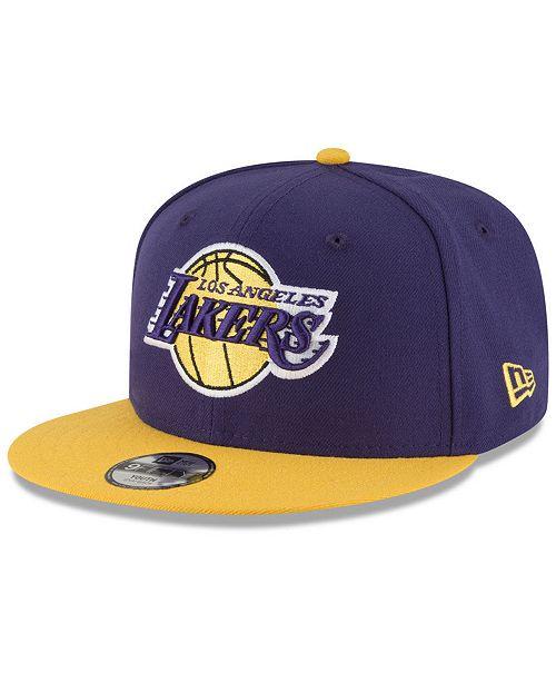 New Era Boys' Los Angeles Lakers Basic 9FIFTY Snapback Cap