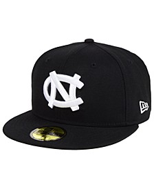 North Carolina Tar Heels Core Black White 59FIFTY Fitted Cap