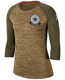 Women's Dallas Cowboys Salute To Service Legend Raglan T-Shirt