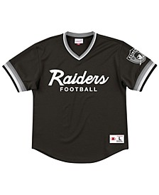 Men's Oakland Raiders Special Script Mesh V-Neck Top