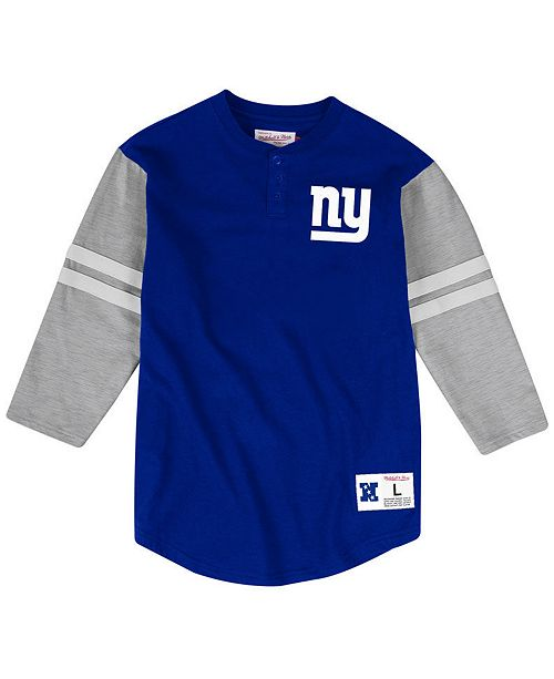 Mitchell & Ness Men's New York Giants Team Logo Henley Top