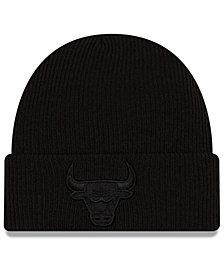 New Era Chicago Bulls Blackout Knit Hat
