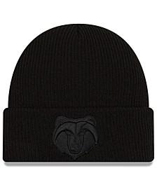 Memphis Grizzlies Blackout Knit Hat