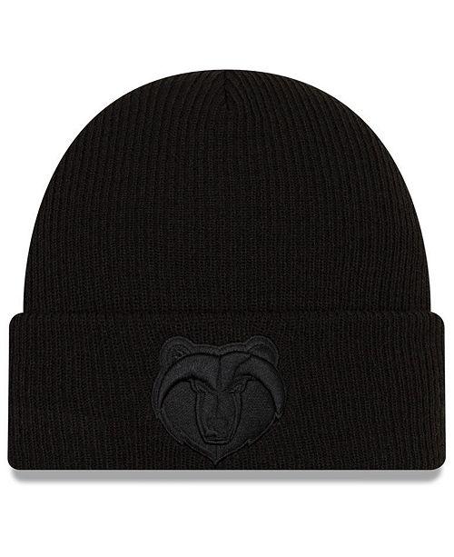 New Era Memphis Grizzlies Blackout Knit Hat