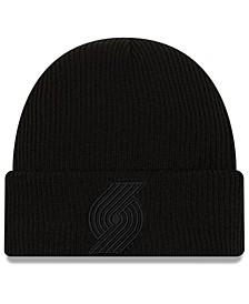 Portland Trail Blazers Blackout Knit Hat