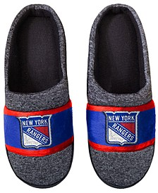 New York Rangers Poly Knit Slippers