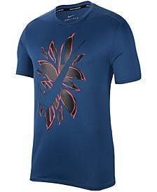 Men's Breathe Dri-FIT Logo-Graphic Running Top