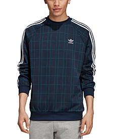 adidas Men's Originals Tartan Plaid Sweatshirt