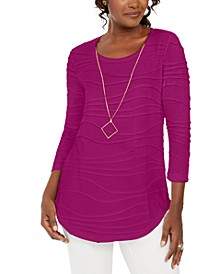 Wavy Textured Knit Top, Created for Macy's