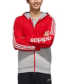 adidas Men's Essential Colorblocked Fleece Zip Hoodie