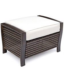 North Shore Outdoor Ottoman with Sunbrella® Cushion, Created for Macy's