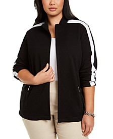 Plus Size Zip-Up Jacket, Created for Macy's