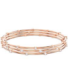 Penelope Cruz Moonsun 3-Pc. Set Rose Gold-Tone Crystal Bangle Bracelets