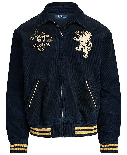 Polo Ralph Lauren Men's Corduroy Graphic Jacket