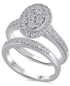 Certified Diamond (3/4 ct. t.w.) Bridal Set in 14K White Gold