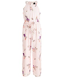 Big Girls Floral Burnout Jumpsuit
