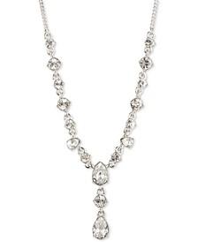 "Crystal Lariat Necklace, 16"" + 3"" extender"