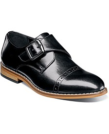 Little Boy Desmond Cap Toe Monk Strap Shoe