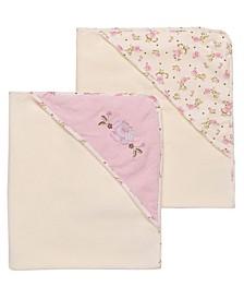 Vintage-Like Rose 2 Pack Hooded Towel Set